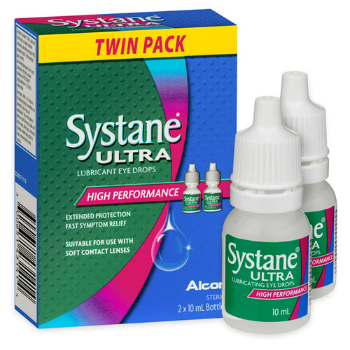 Systane Ultra Lubricating Eye Drops 10ml - Twin Pack Blooms The Chemist