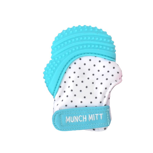 Malarkey Kids Munch Mitt Teething Mitten Blue