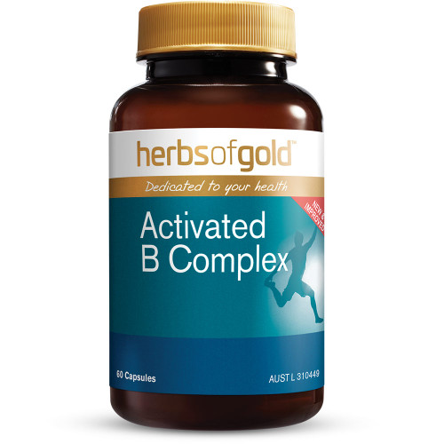 Herbs Of Gold Activated B Complex - 60 Capsules