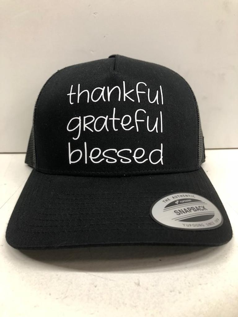 THANKFUL GRATEFUL BLESSED TRUCKER HAT