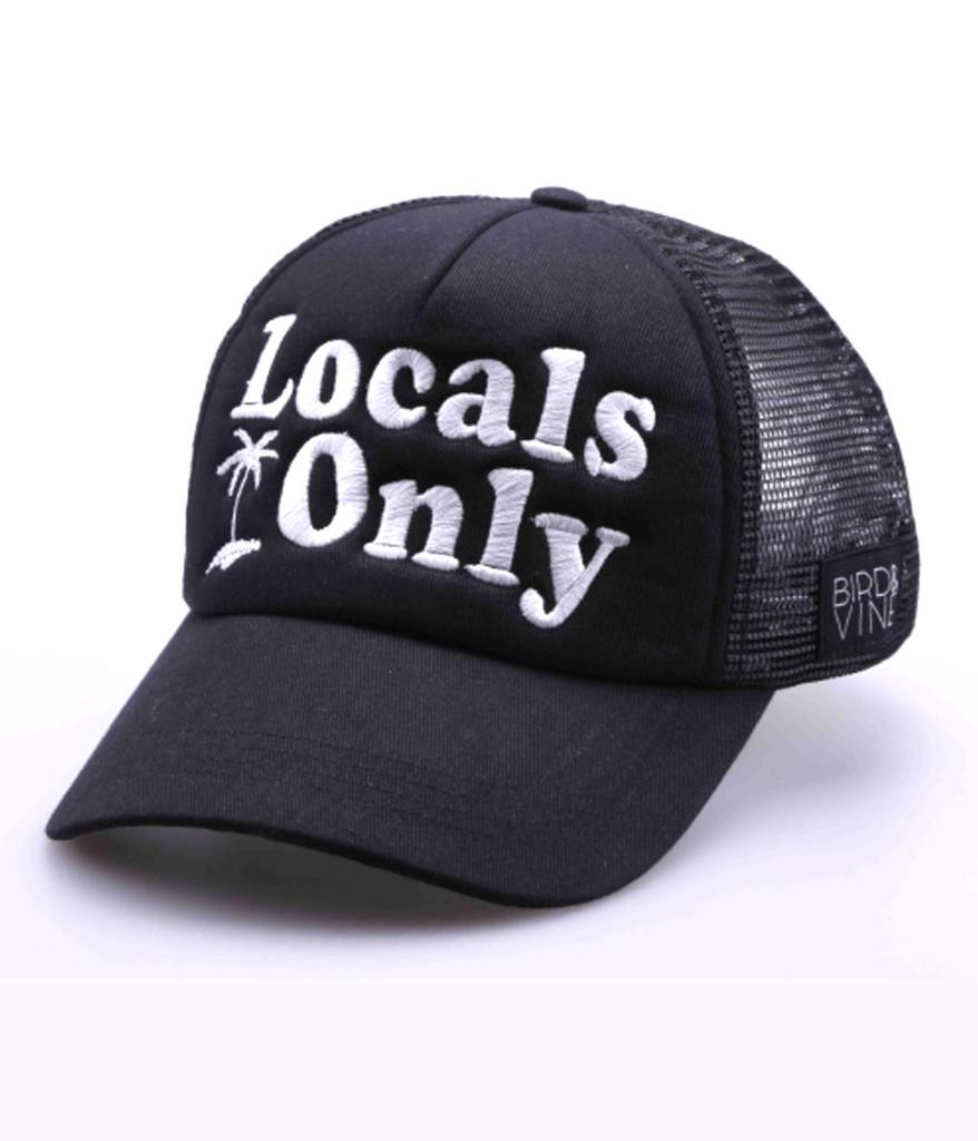 LOCALS ONLY EMBROIDERED TRUCKER HAT
