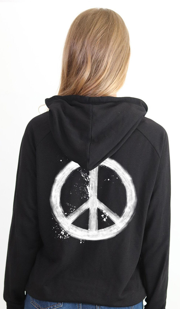 PEACE SPLATTER LIGHTWEIGHT FLEECE ZIP HOODIE