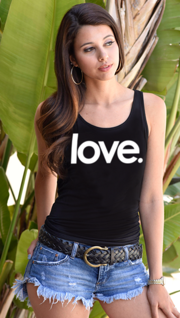 LOVE. TANK with 3 Hearts on back (Black)