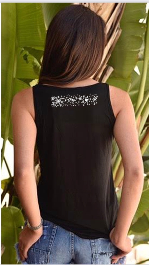 YIN YANG TANK with ART DOODLE on back