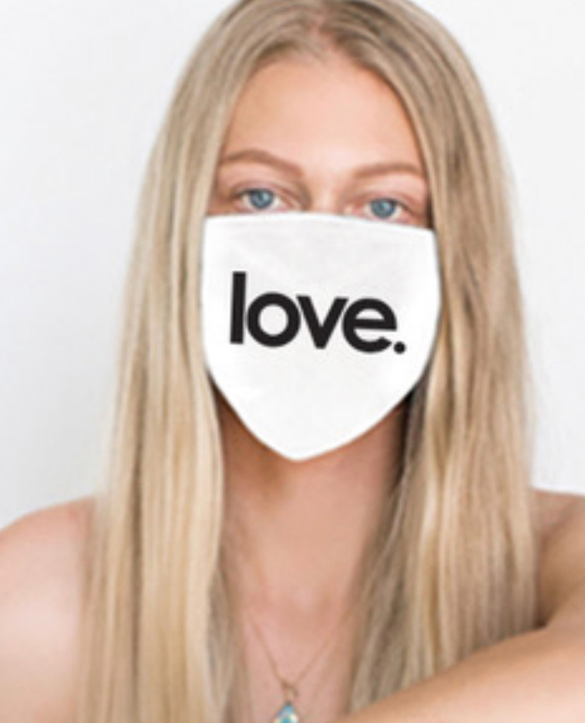 LOVE COTTON FACE MASK (White)