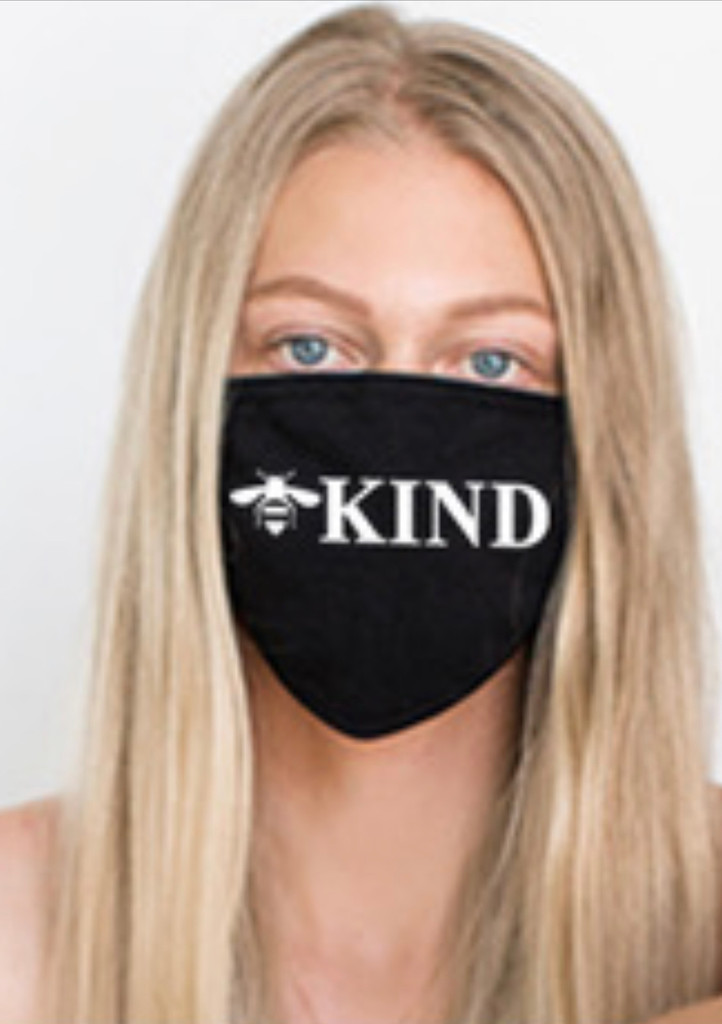 BEE KIND COTTON FACE MASK (Black)
