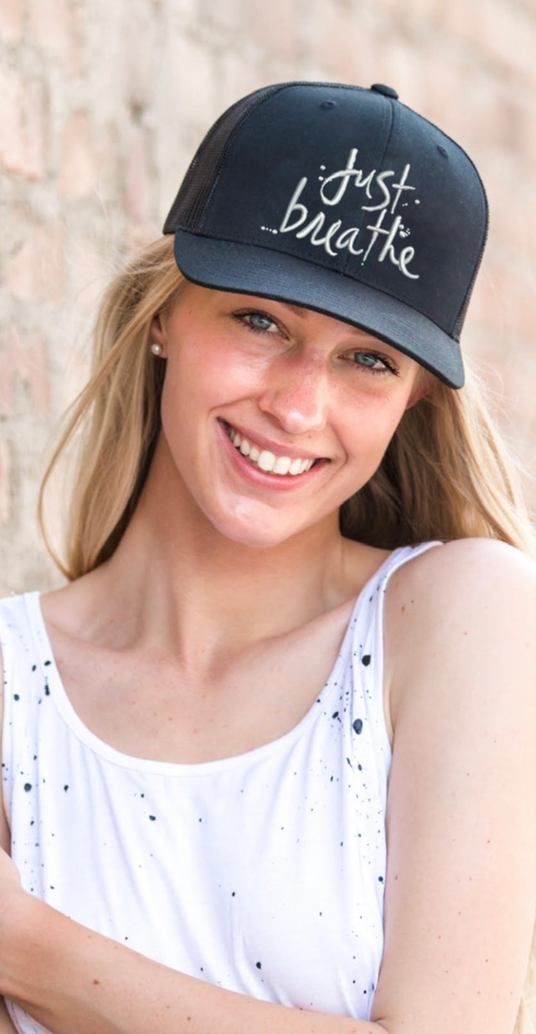 JUST BREATHE TRUCKER HAT