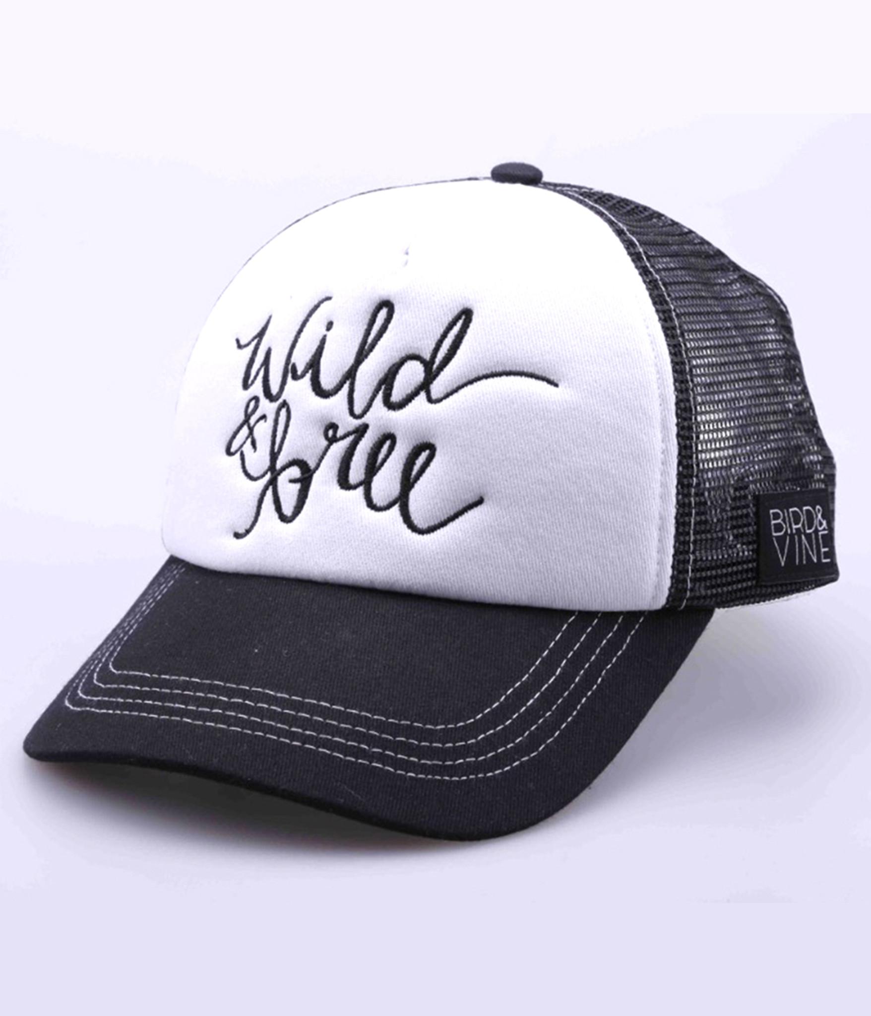 2f7137296 WILD & FREE EMBROIDERED TRUCKER HAT