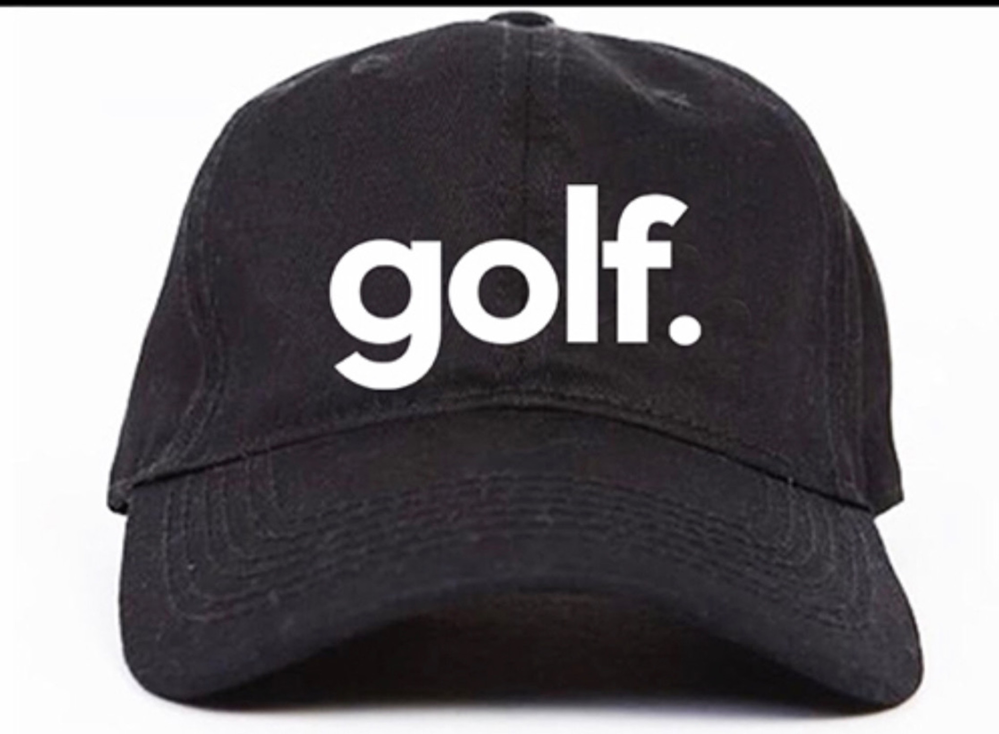 GOLF. EMBROIDERED DAD HAT (BLACK)