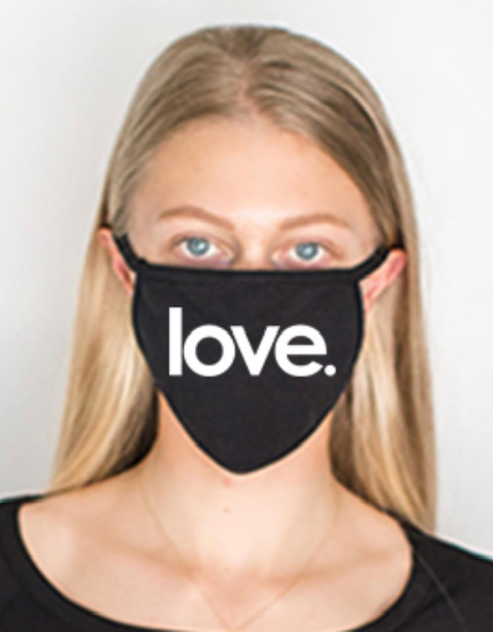 LOVE COTTON FACE MASK (Black)