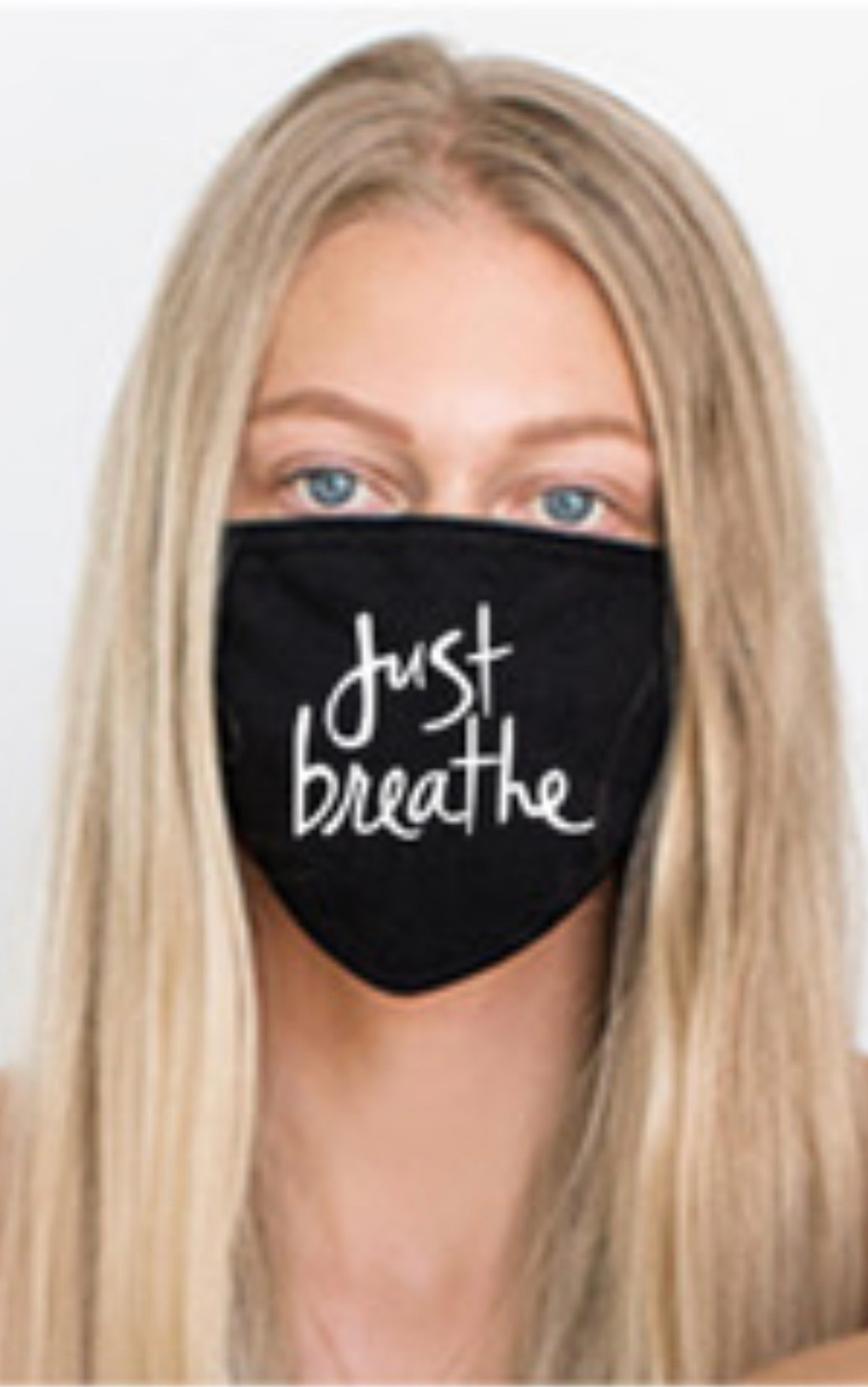 JUST BREATHE COTTON FACE MASK (Black)