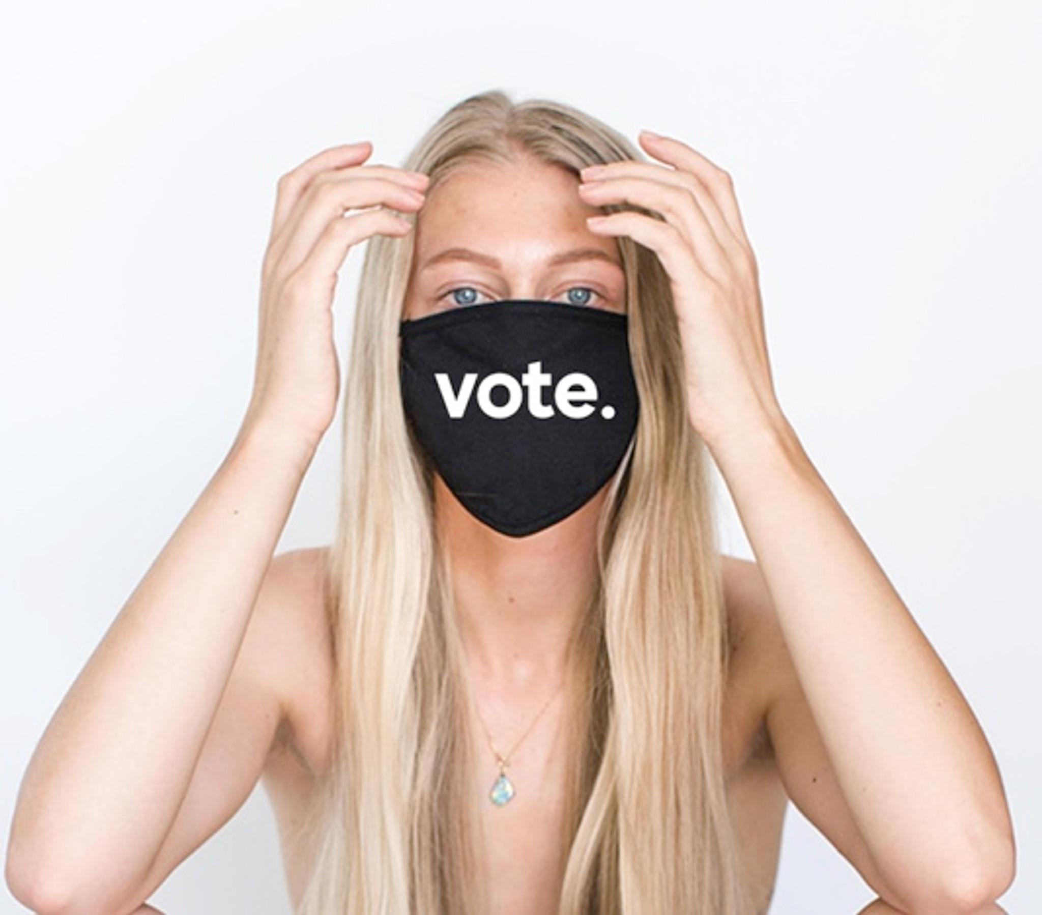 VOTEperiod COTTON FACE MASK (Black)