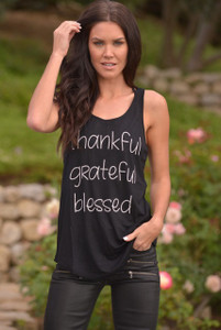BLACK THANKFUL GRATEFUL, BLESSED TANK
