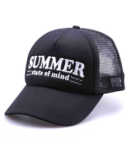 SUMMER STATE OF MIND EMBROIDERED TRUCKER HAT