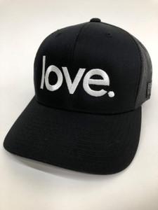 LOVE. EMBROIDERED TRUCKER HAT