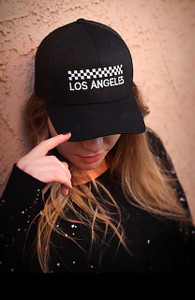 CHECKER LOS ANGELES EMBROIDERED TRUCKER HAT