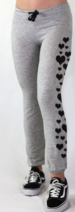 HEARTS LIGHTWEIGHT FLEECE GREY SWEAT PANT (JOGGER)