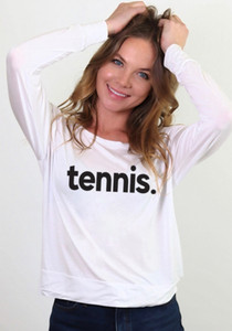 TENNIS. L/S OTS TOP (White)