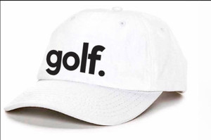 GOLF. EMBROIDERED DAD HAT (WHITE)
