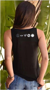 STAR ART TANK with ART on back (Black)