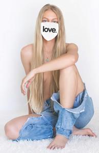 LOVE COTTON FACE MASK (White)