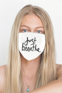 JUST BREATHE COTTON FACE MASK (White)