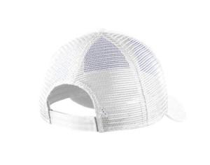 LOVE. EMBROIDERED TRUCKER HAT (White)
