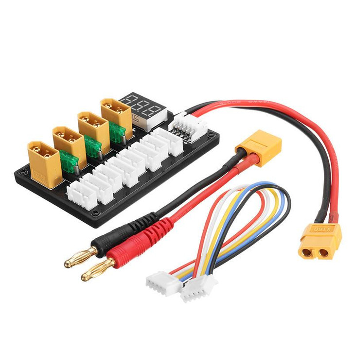 3S/4S XT parallel charging board for 11.1V/14.8V model battery