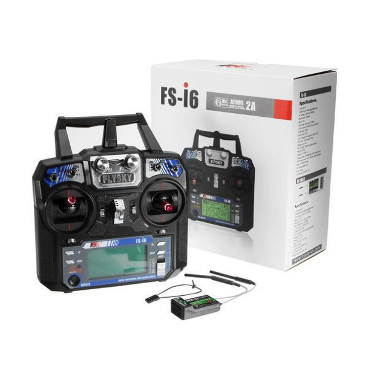 FlySky FS-i6 2.4G 6CH AFHDS RC Radio Transmitter With FS-iA6B Receiver for RC FPV Drone