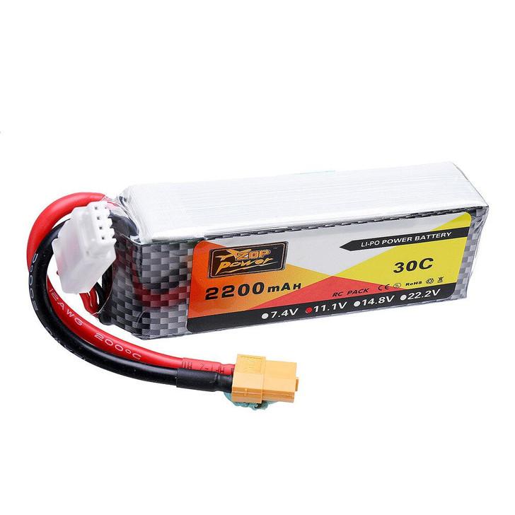 ZOP Power 11.1V 2200mAh 30C 3S Lipo Battery XT60 Plug