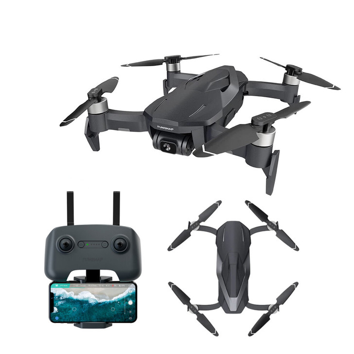 FUNSNAP DIVA RC Quadcopters with 5.8G WIFI 2KM FPV GPS  Two-axis Anti-shake EIS Gimbal 30mins Flight Time  drone