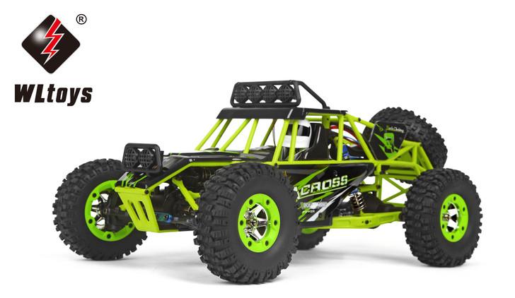 WLtoys 12427 2.4G 1/12 4WD Crawler RC Car With LED Light 7.4V 1500mAh