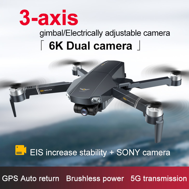 JJRC X20 GPS 5G WiFi FPV with 6K ESC HD camera 3-axis self-stabilizing optical flow positioning brushless foldable remote control drone quadcopter