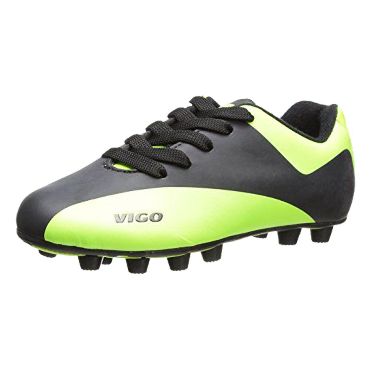 920c400f026d Vizari Vigo FG Youth and Junior Soccer Cleats- Black   Neon Green ...