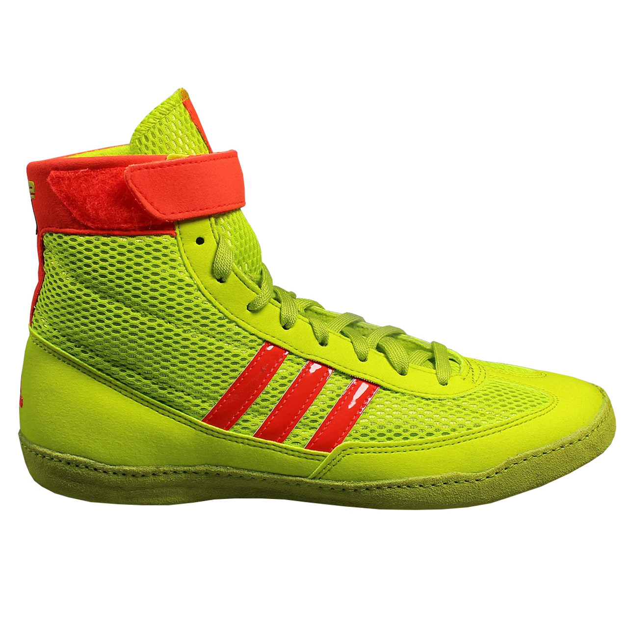 info for fc212 99945 Adidas Combat Speed 4 Senior Wrestling Shoes B40609 - Yellow, Red, Gum ...