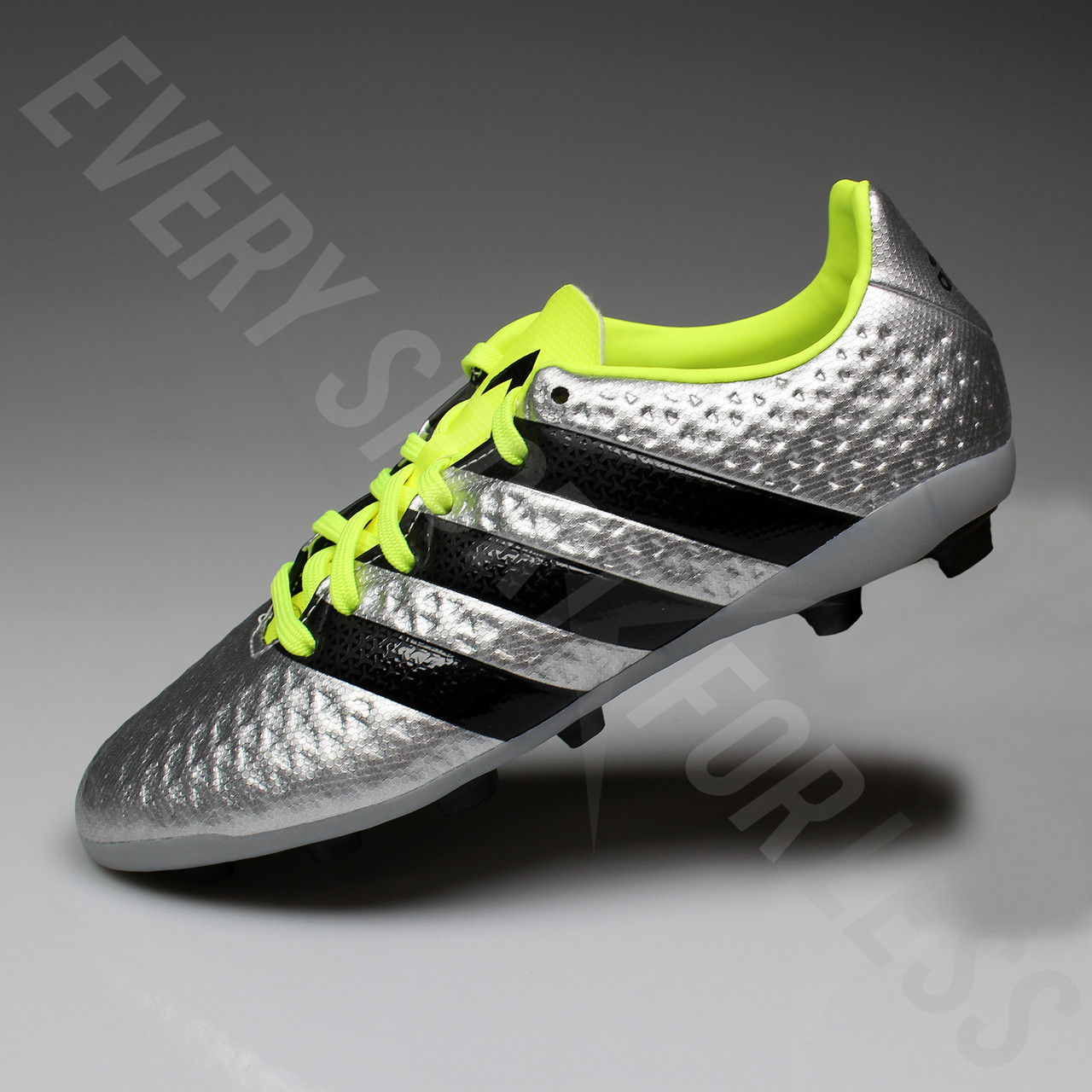 ff9c86f5a1f Adidas Ace 16.4 FxG Junior Soccer Cleat S42142 - Silver Black Yellow