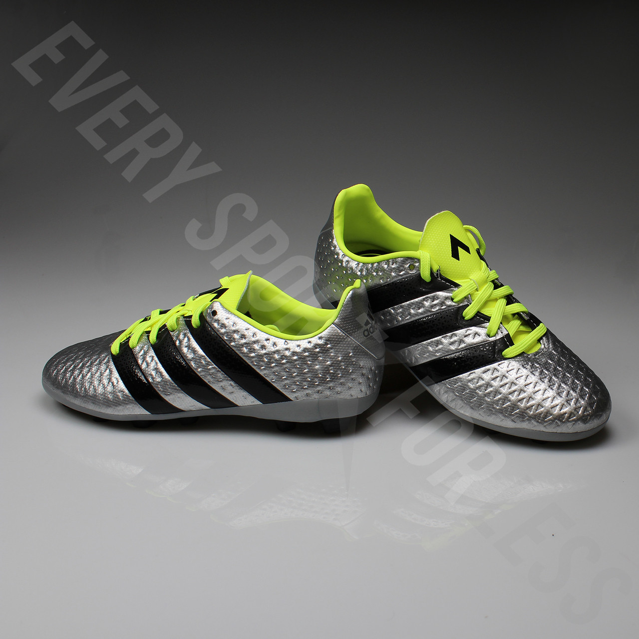sports shoes 356df 33f8d Adidas Ace 16.4 FxG Junior Soccer Cleat S42142 - Silver, Black, Yellow