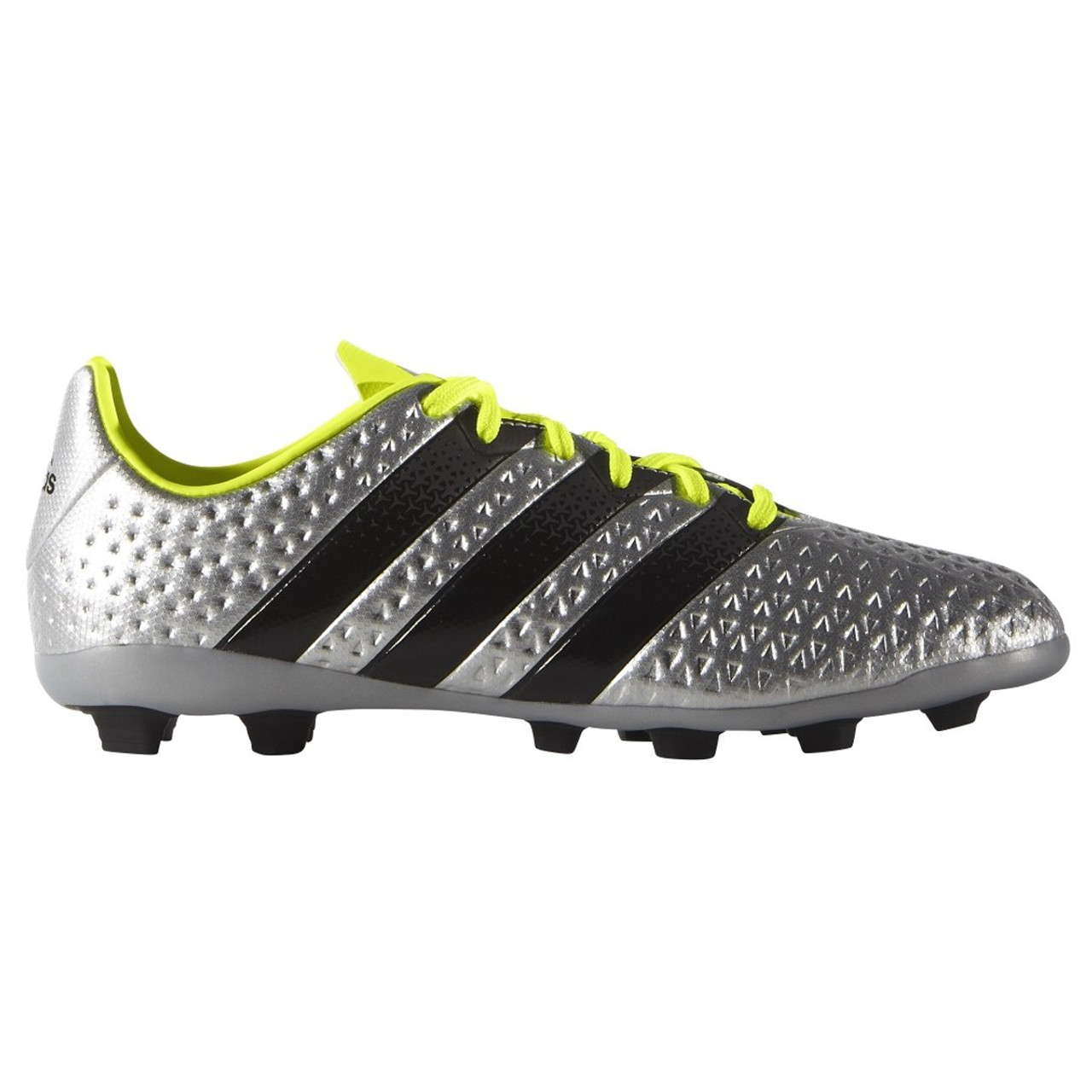 sports shoes 91e8e e8bb8 Adidas Ace 16.4 FxG Junior Soccer Cleat S42142 - Silver, Black, Yellow
