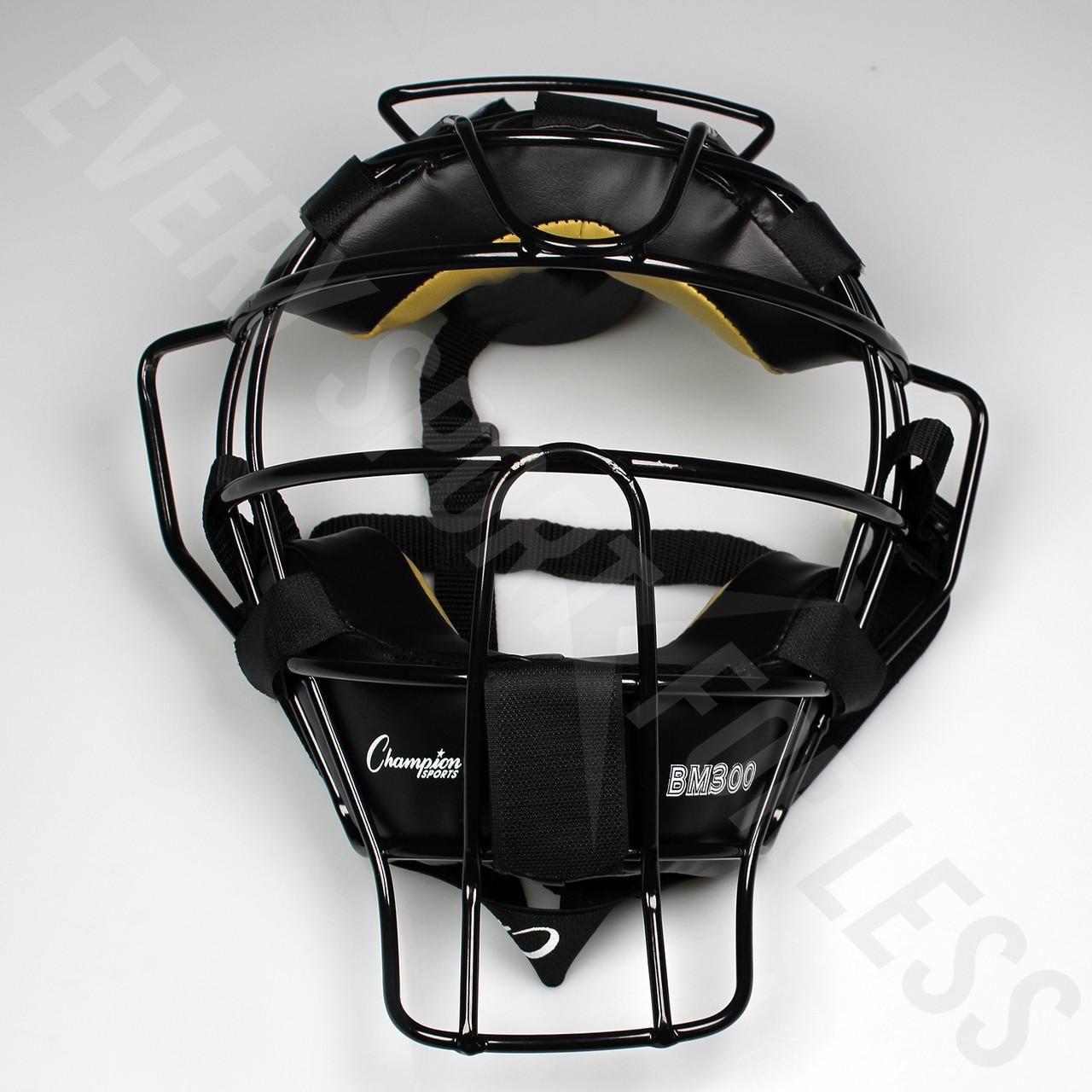 244437edf80b ... Champion Ultra Light Baseball Umpire Mask BM300 - Black ...