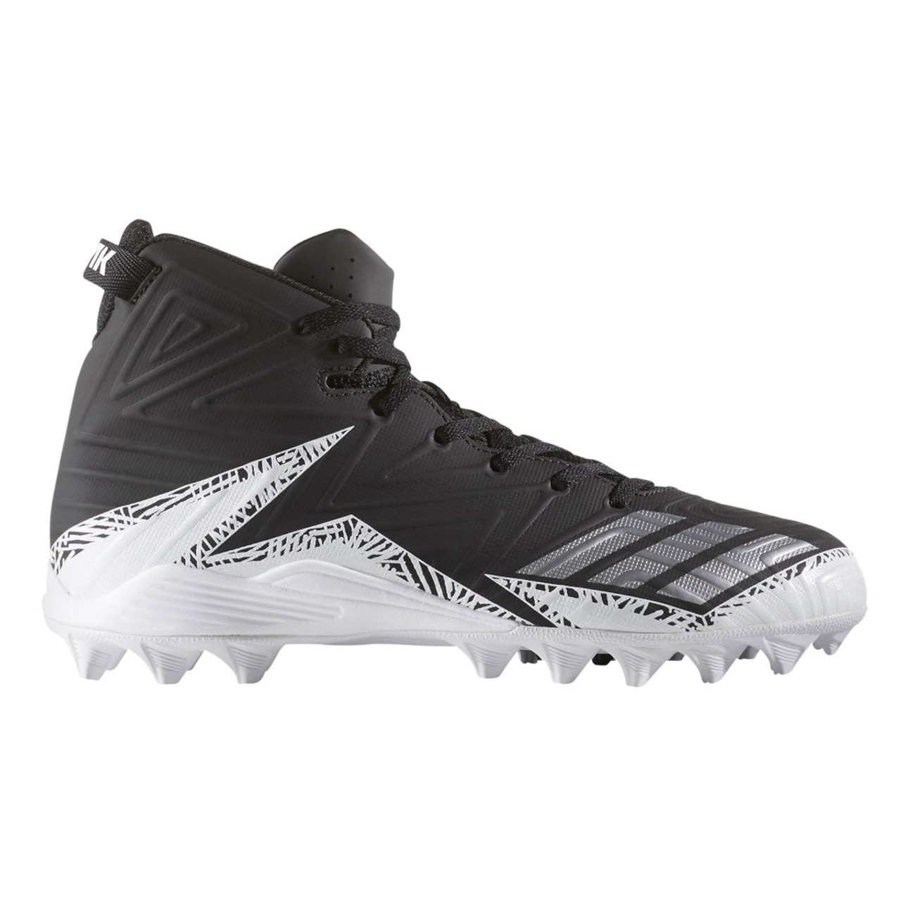 a30405899 Adidas Freak Mid MD Senior Football Lacrosse Cleats BY3874 - Black Silver  White
