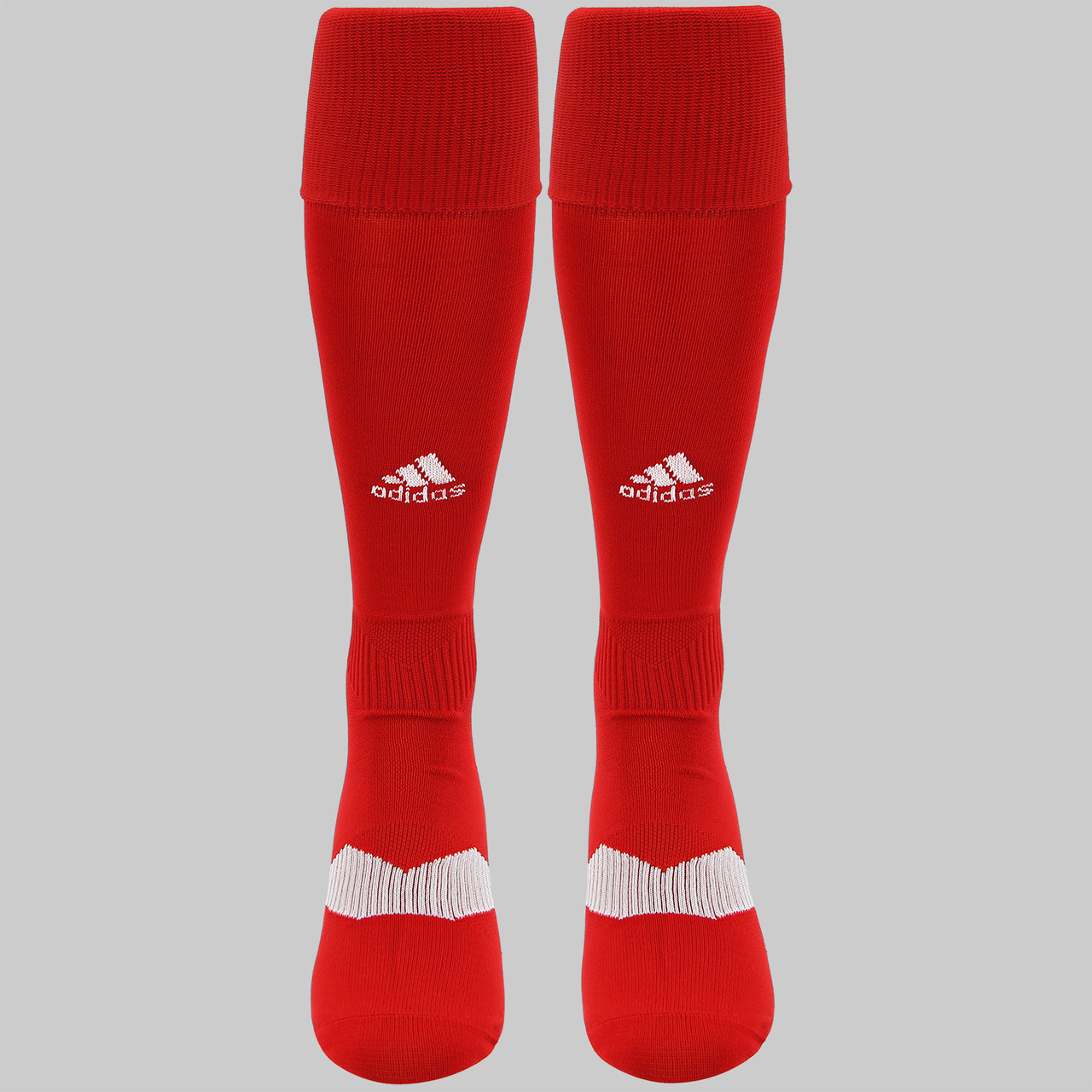 86d3e746a ... Adidas Metro IV OTC Soccer Socks - Power Red, White, Clear Grey ...