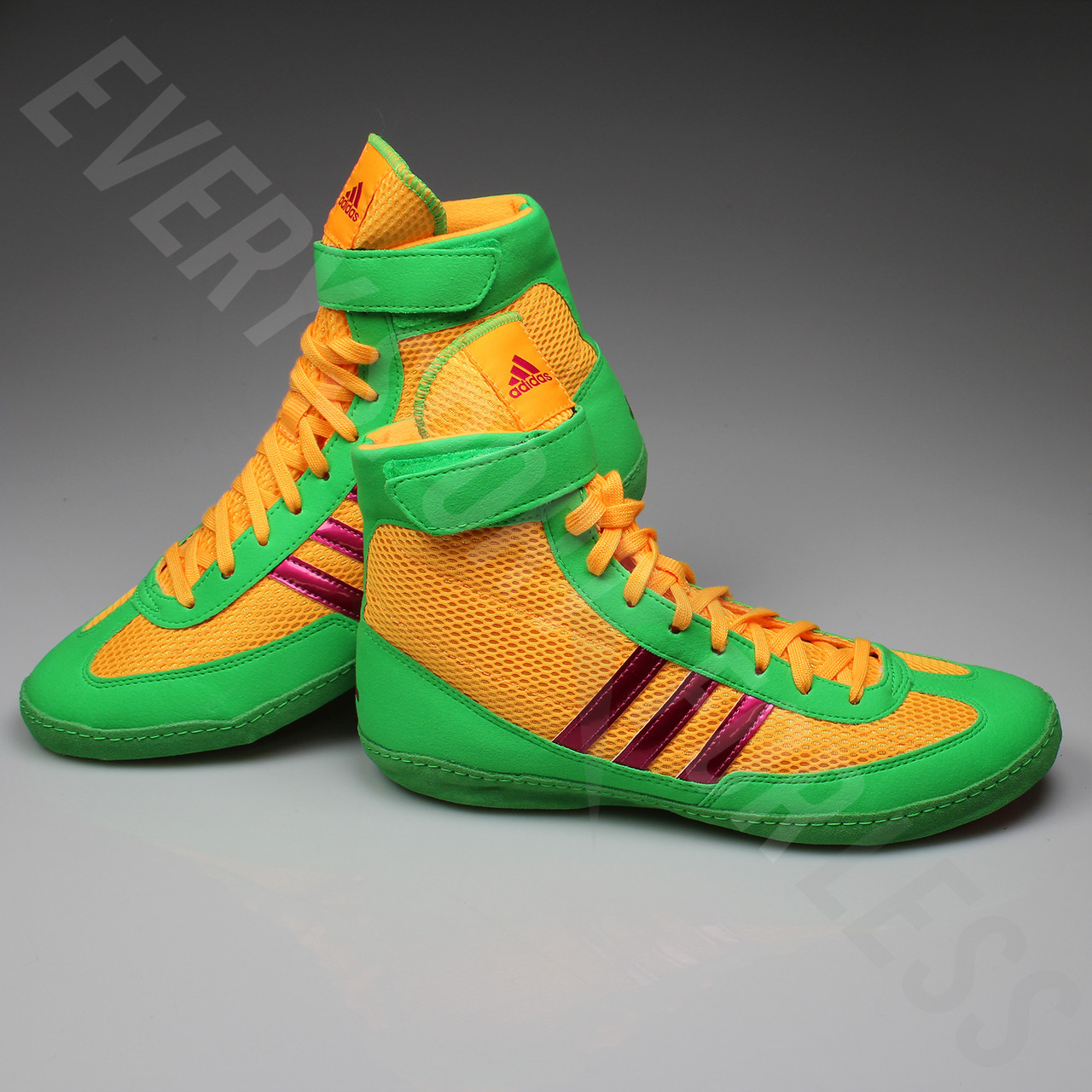 huge selection of f0fbb a0656 ... Adidas Combat Speed 4 Wrestling Shoes AQ3059 -Gold Pink Lime ...