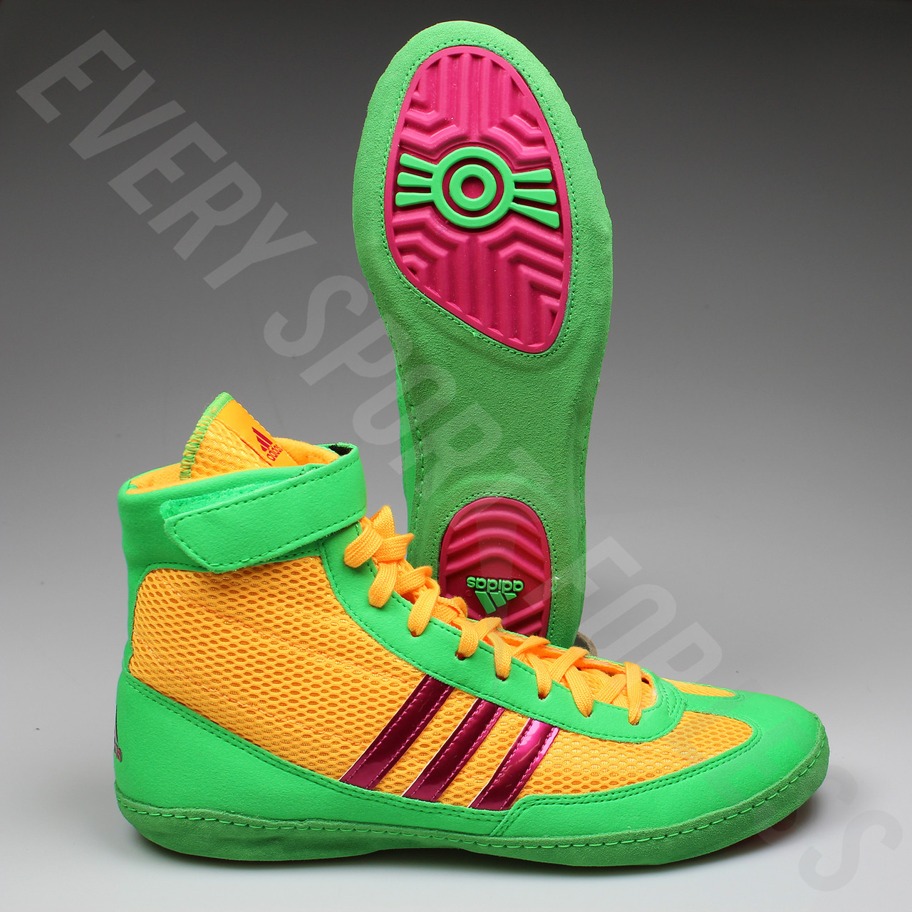 46add245ddc ... Adidas Combat Speed 4 Wrestling Shoes AQ3059 -Gold Pink Lime ...