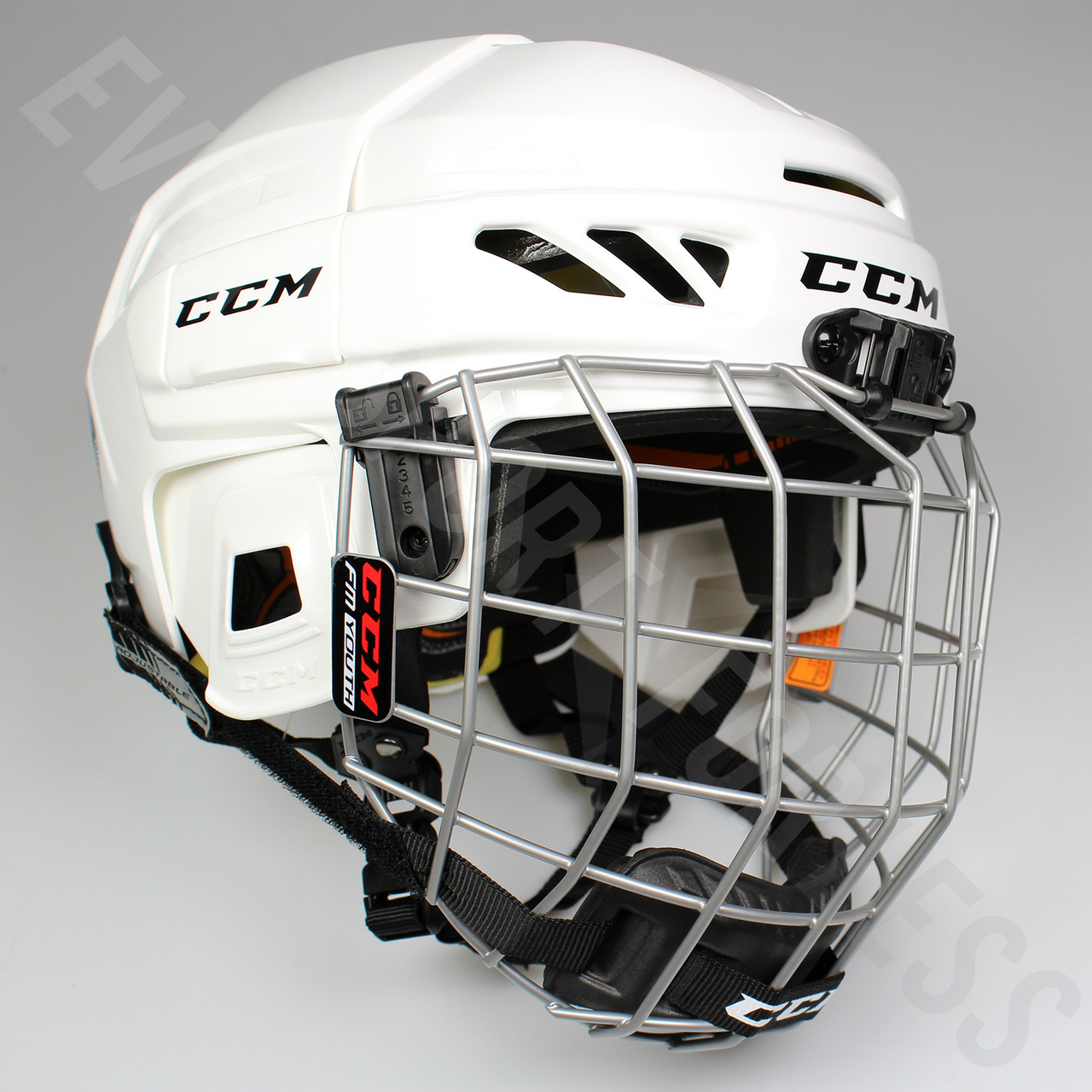 CCM Fitlite 3Ds Combo Youth Hockey Helmet with Cage - Various Colors