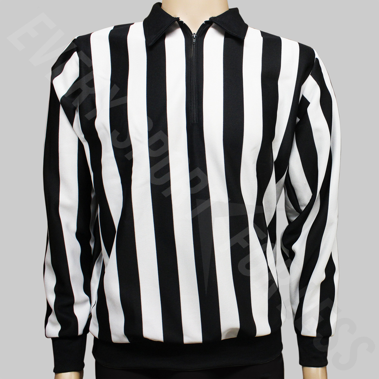 c430852d3 ... CCM 150 Official Senior Hockey Referee Shirt - Black, White Stripes