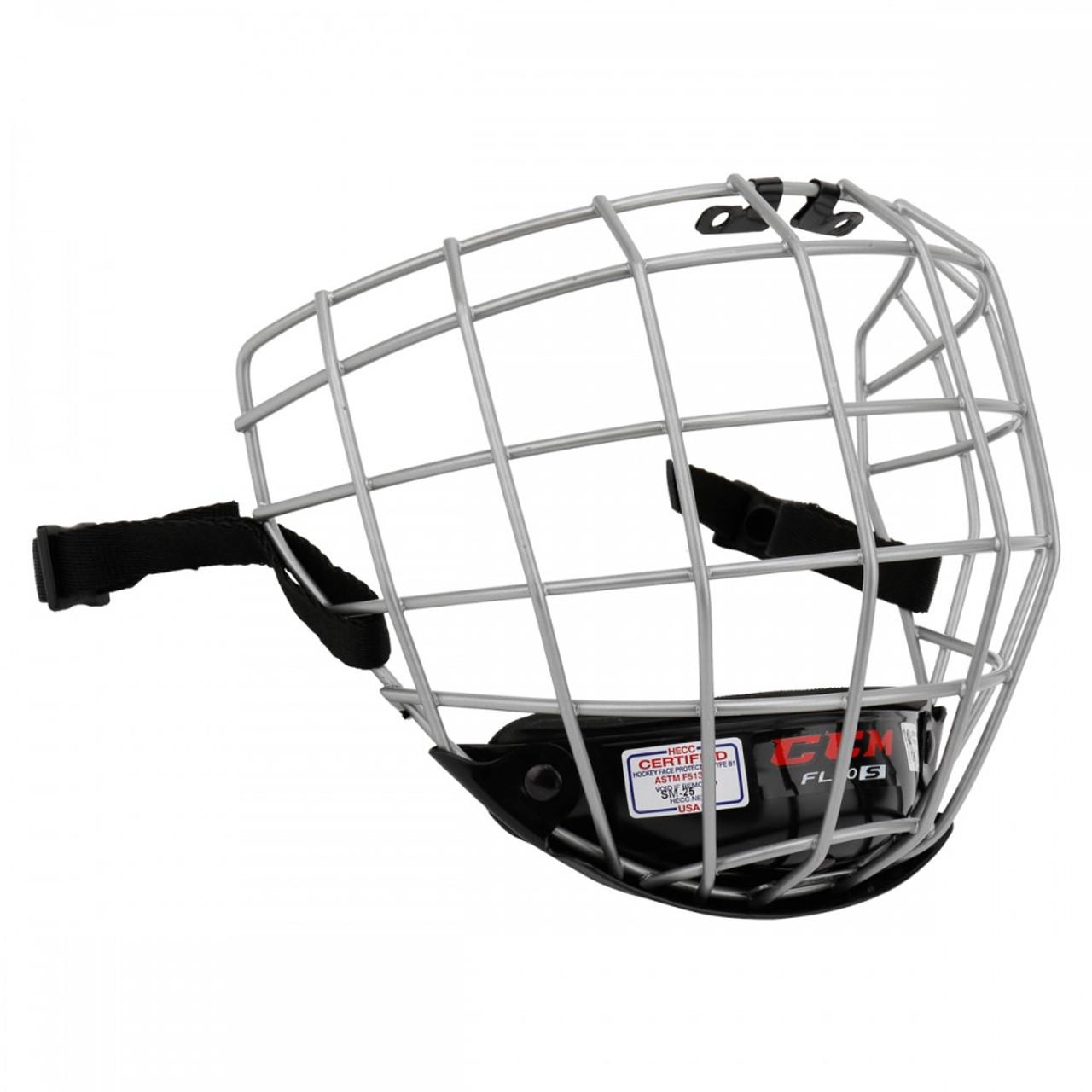 b2341900187 CCM FitLite FL40 Senior Ice Hockey Helmet Cage - Silver
