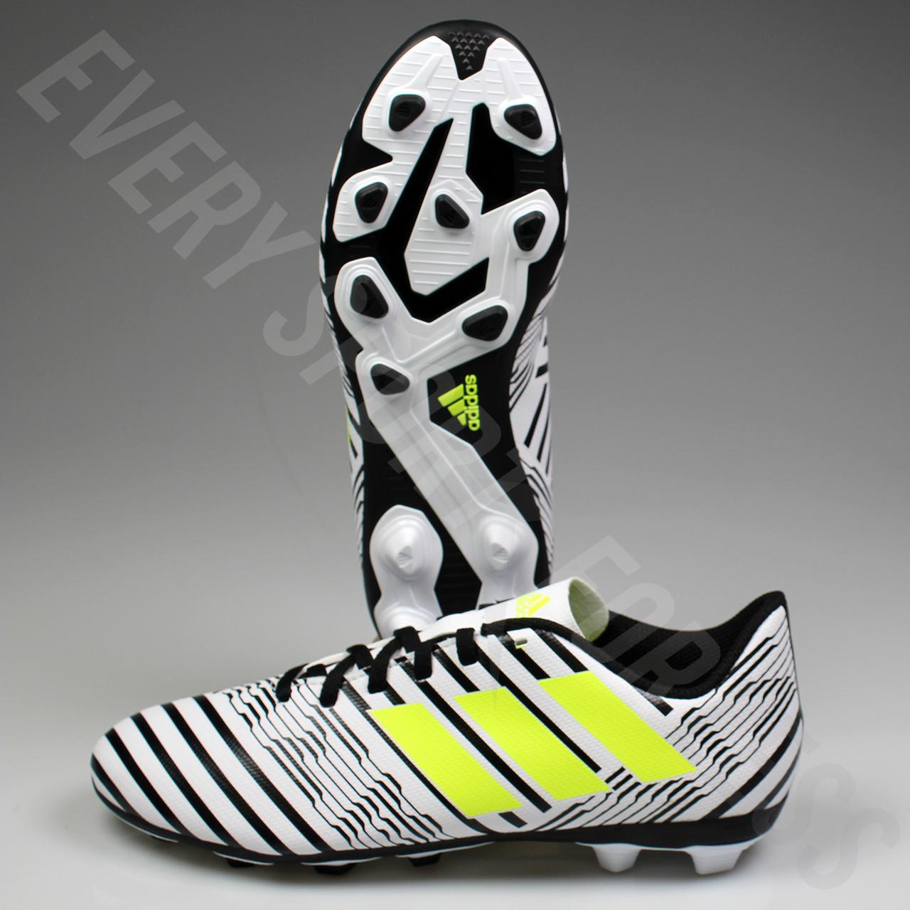 defd1468daab Adidas Nemeziz 17.4 FxG Junior Soccer Cleats S82459 - White Solar ...
