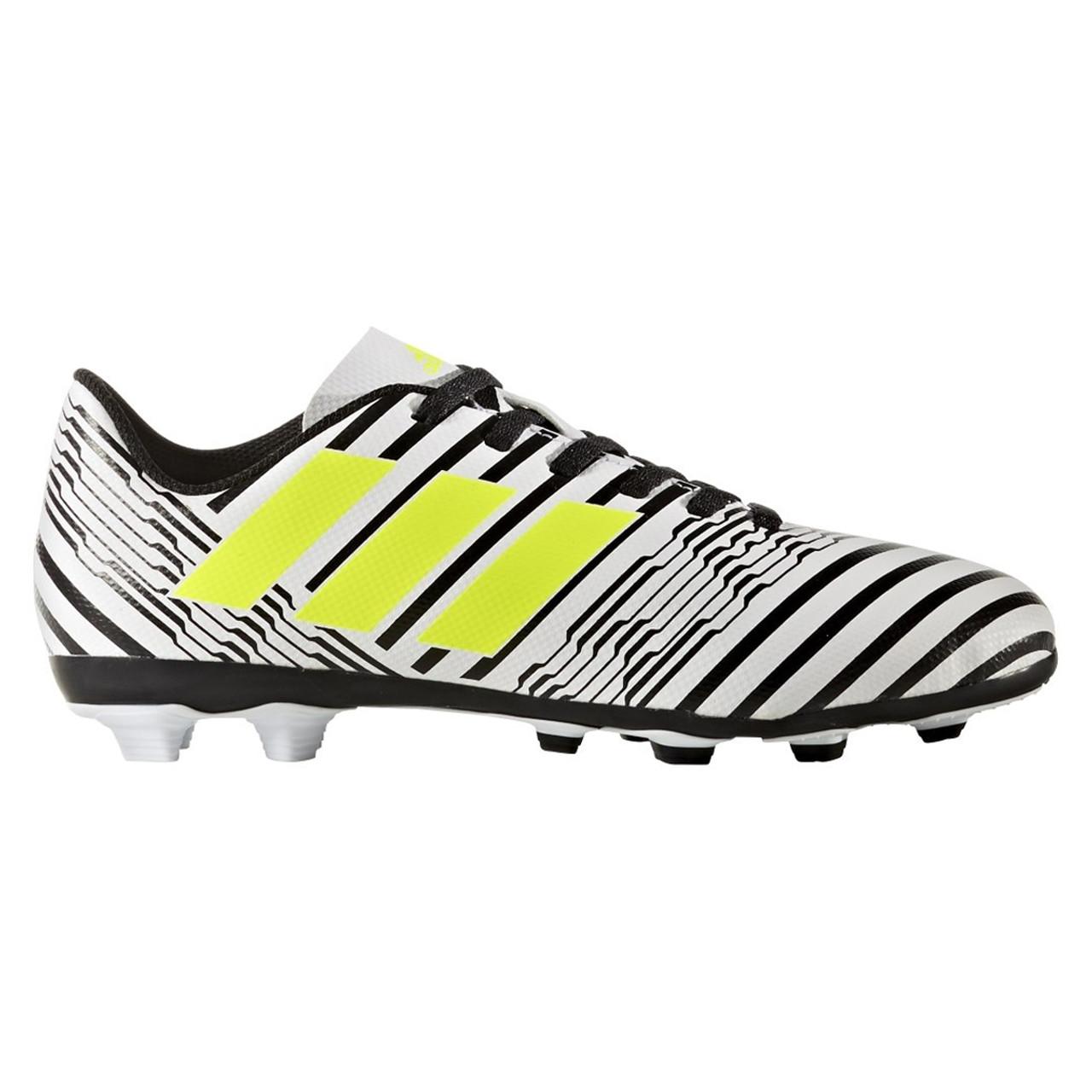 f731b2755 Adidas Nemeziz 17.4 FxG Junior Soccer Cleats S82459 - White Solar ...