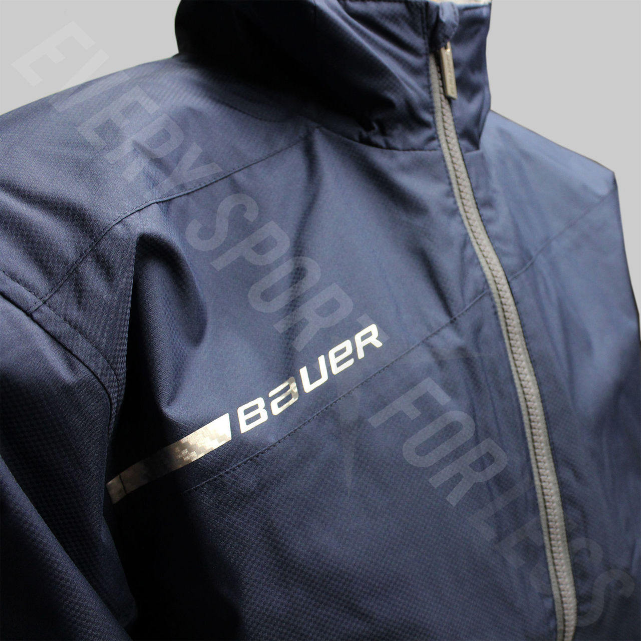 ef773e90a4f Bauer Hockey 100% Polyester Senior Flex Long Sleeve Jacket - Navy
