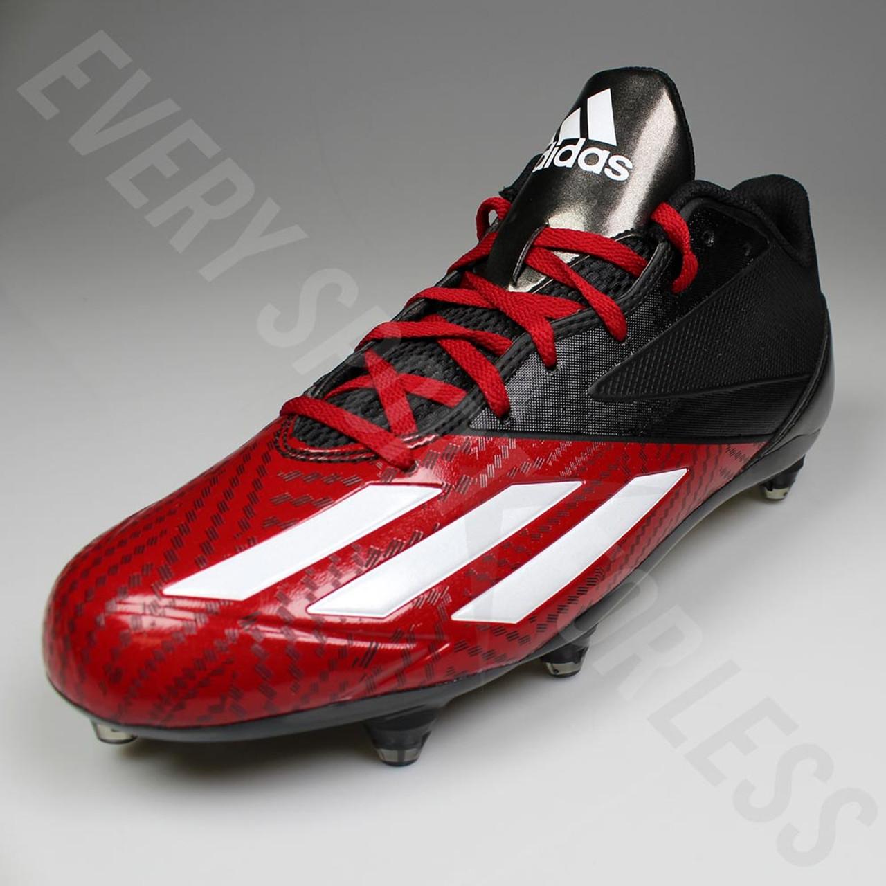 new concept 1df79 42e06 ... Adidas Adizero 5-Star Low D Football Lacrosse Cleats D70140 - Black,  Red ...